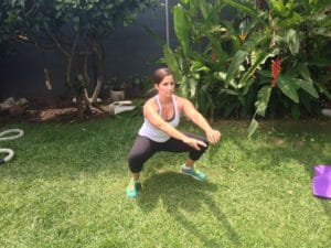 Belly fat PCOS squat