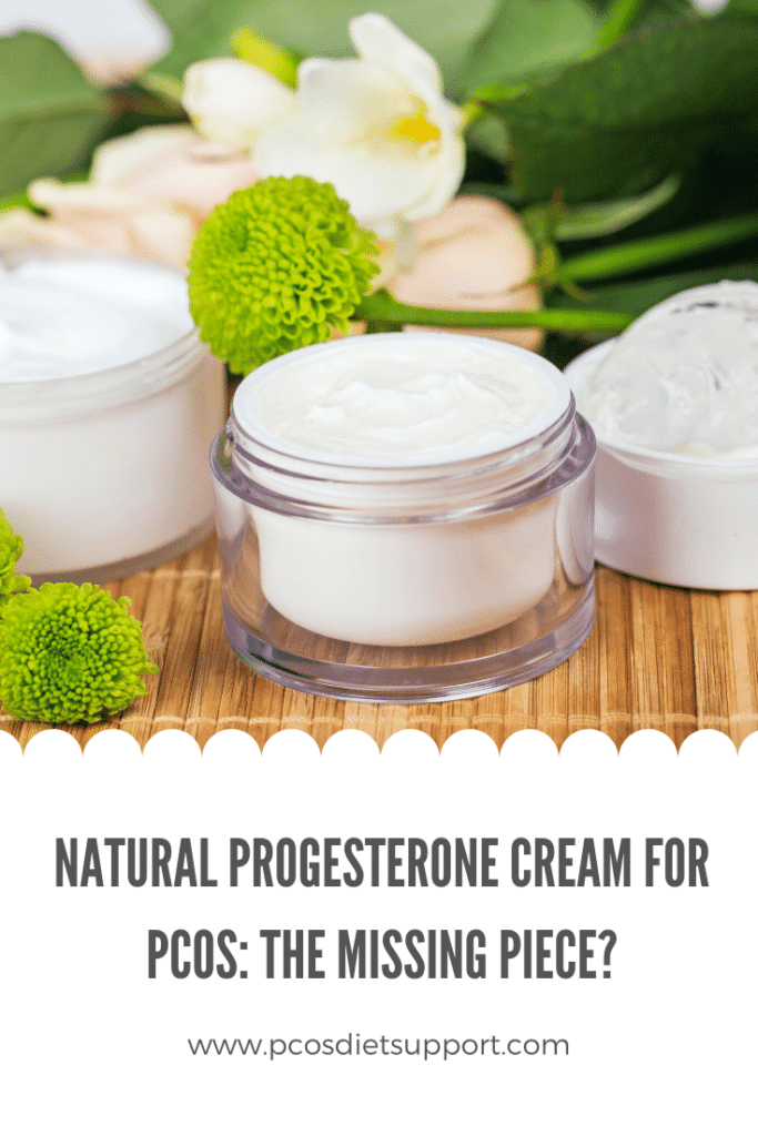 Natural Progesterone Cream for PCOS pinterest