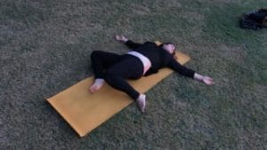 yoga for PCOS gentle twists 3