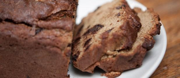 PCOS friendly chocolate banana bread