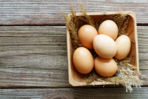 PCOS diet on the road eggs