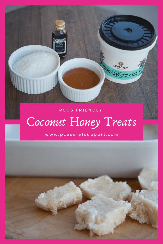 PCOS friendly coconut honey treats pinterest