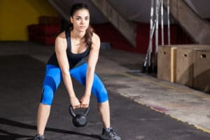 pcos exercise research kettlebell