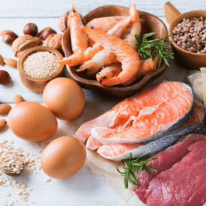 Image of different sources of protein to help improve your PCOS Diet