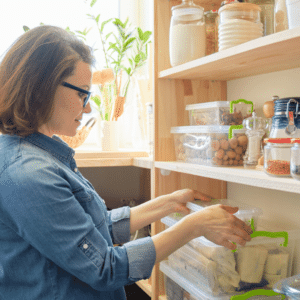 woman-in-organized-pantry