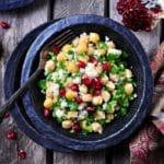 Pomegranate-chickpea-broccoli-salad